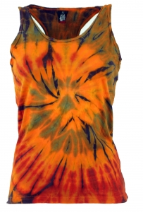 Batik-Tanktop, Tie Dye Goa Top - orange