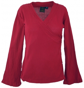 Goa Wickelbluse Baumwolle - rot